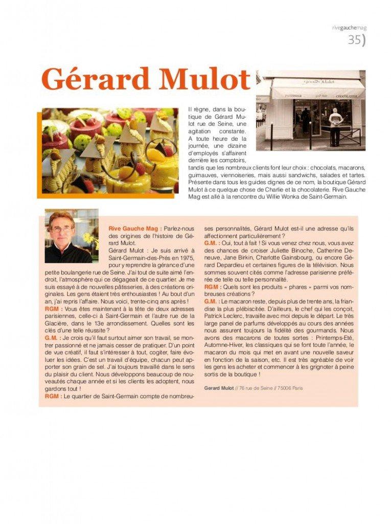 Gérard Mulot dans Publi-reportage mulot